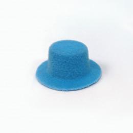 Шляпка для кукол Киокар голубая