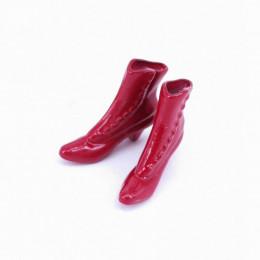 Полусапожки на каблуке для кукол красные