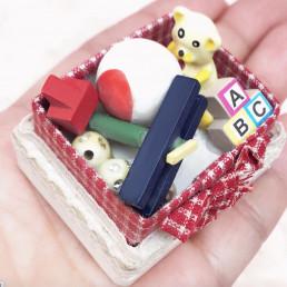 Набор игрушек для кукол кубики, мишка, мяч