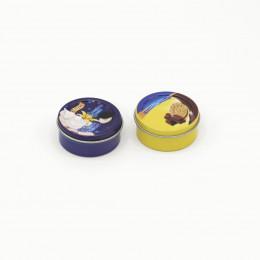 Коробки для печенья для кукол 2 шт. синяя и желтая