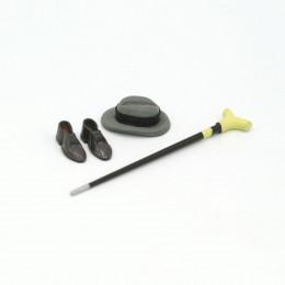 Набор аксессуаров для кукол шляпа, ботинки, трость