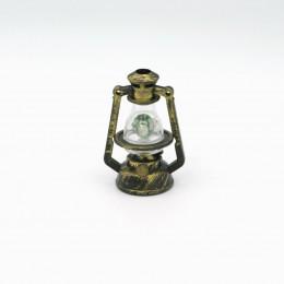 Керосиновая лампа для кукол бронзовая