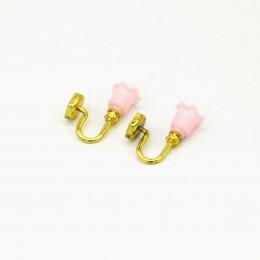 Набор декоративных бра для кукол 2 шт. розовые