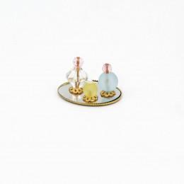 Набор парфюма для кукол 3 предмета на подносе