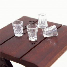 Набор хрустальных стаканов для кукол 4 шт.