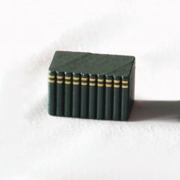 Блок книг для кукольного домика зеленый
